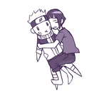 Hugging the Naruto pillow by DivineHeartz