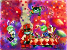 Turtles In Wonderland by zims-lost-soul