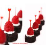 Brownie Bites w/ Raspberry n Cream by theresahelmer