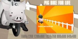 Pig bike for life by Chozo-MJ