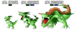 Fakemon: A001 - A003 - Alternate Grass Starter by MTC-Studio