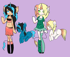 Unicorn Girls {CLOSED} by LittleWhiteDragonlet