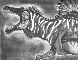 The Zebra Spinosaurus by Fragillimus335