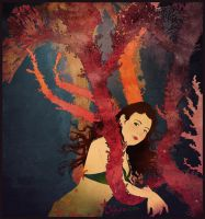 Mermaid on Corals by Chihyro