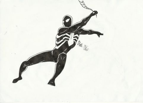 Black Costume Spider-Man by Ryuk124
