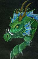 Random Green Dragon by The-GoblinQueen