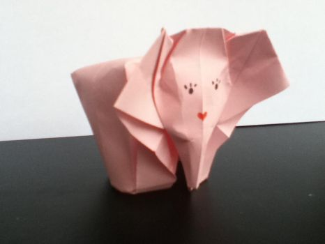 Origami Elephants by SophieWithLove
