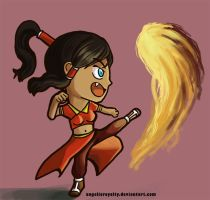 Chibi Firebender Korra by AngelicRoyalty