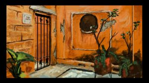 Mexican courtyard study by Robjenx