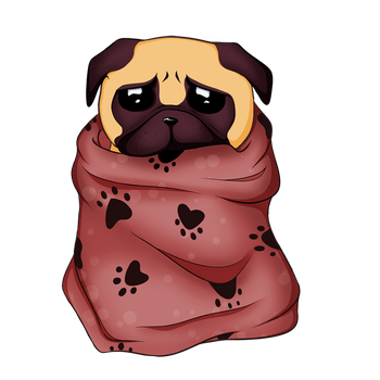 Sad little pug by GR-the-queen
