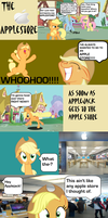 Applejack Goes To The Apple Store by Rainbow-Pastel