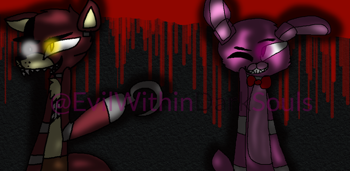 Bonnie and Foxy by EvilWithinDarkSouls