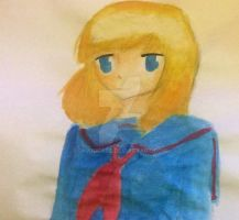 Anime girl water colour ((failure)) by Dhanica02