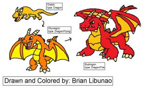Fakemon: Dragons by Brian12