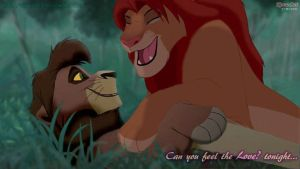 Can you feel the Love ? tonight.. Simba and Kovu by KovuOat