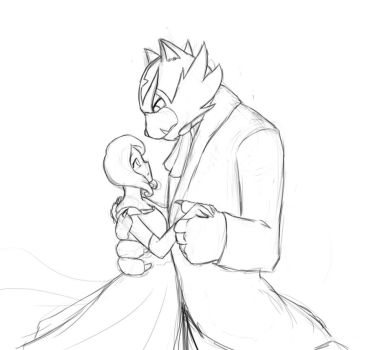 Tale as old as Time (sketch) by Akida411searcher