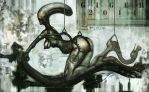 H.R. Giger tribute by chrislazzer