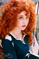 Kaitlyn as Merida from Disney's Brave by AshBimages