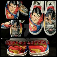 Superman man Custom Vans by VeryBadThing