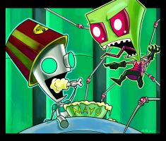 Invader Zim and Gir by dreamwatcher7