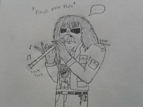 Eddie playing nose flute... by SoupCan2099