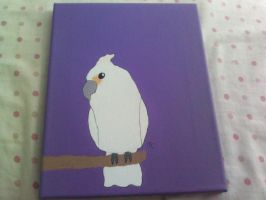 Goffins Cockatoo Painting (For Sale) by MadalynC