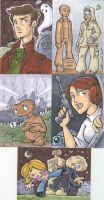 sketch cards-more nerdery by katiecandraw