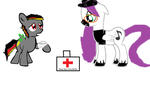 BSBFF 2: Broken leg :( by Ask-Neon-The-Alicorn