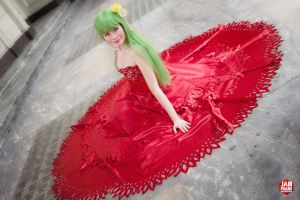 C.C. red dress by Frame-kun