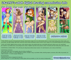 2013 ADULT DIGITAL DRAWING COMMISSION INFO by izka197