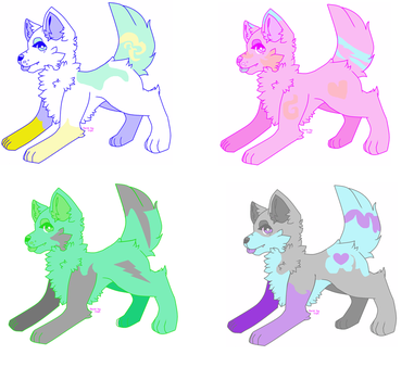 Candy dog Adoptables OPEN 3/4 by BubblesTheCatX3