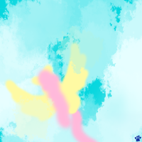 Fluttershy Paint - In the Clouds by Star-Wolfie