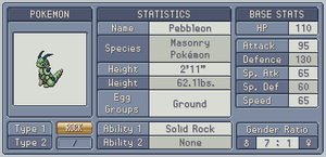 Fakedex Stats: Pebbleon by Wooded-Wolf