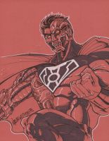 commission cyborg superman by markerguru