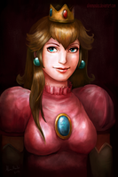 Princess Peach by AlineMendes