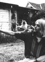 Kurt Cobain and his kitten by DeathShinozaki