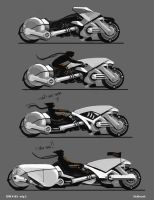 futuristic moto concepts by Sickbrush