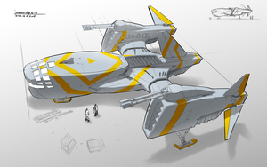 AirGunship Concept by songofelf