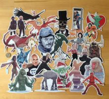 Geeky Stickers and Magnets by McQuade