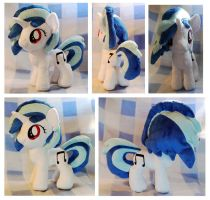 Filly Vinyl Scracth/DJ PON-3 Plushie :Commission: by AppleDew