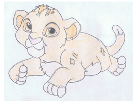baby simba by ConkerTSquirrel