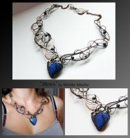 Moira- wire wrapped copper necklace by mea00