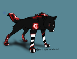 Wolf adoptable 2 OPEN by Lisette-Mage