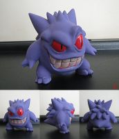 Stylized Gengar Sculpture by BThomas64