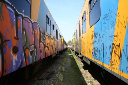 Trains by Trry