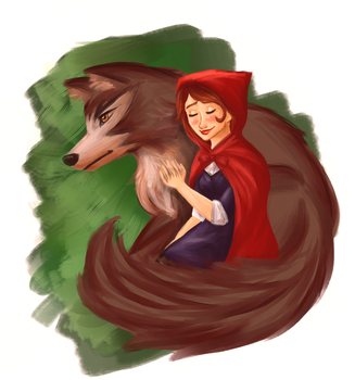 Little Red and The Wolf by Tetra-Zelda