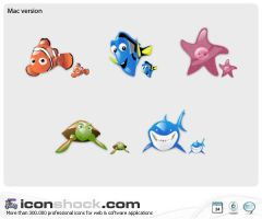 Finding Nemo web icons by Iconshock