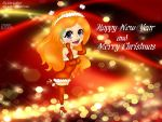 Chibi Orihime Happy New Year and Merry Christmas by kivi-kolibri
