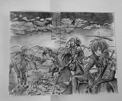 Vincent's drawing of SAO by JowiseNoodles