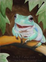Whites Tree Frog by styx-leagon